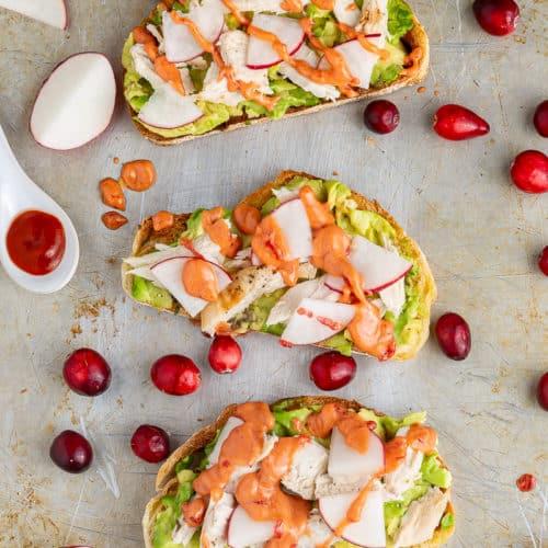 turkey avocado toast ready to eat
