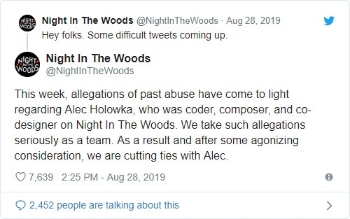 Zoë Quinn accuses Alec Holowka of sexual abuse, he then kills himself - Bent Corner
