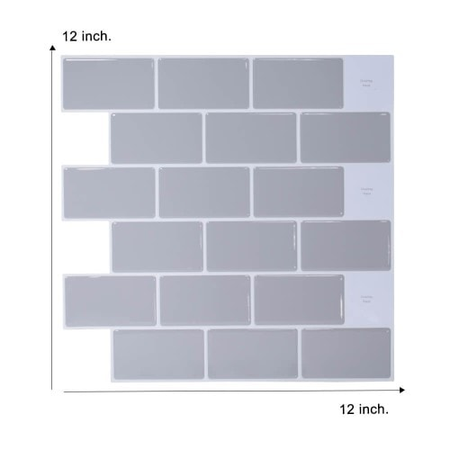 12 x 12 inch grey subway tile