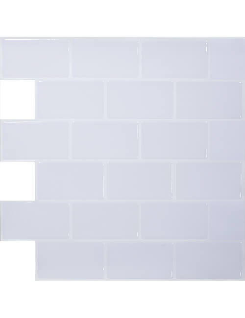 pure white peel and stick subway tile