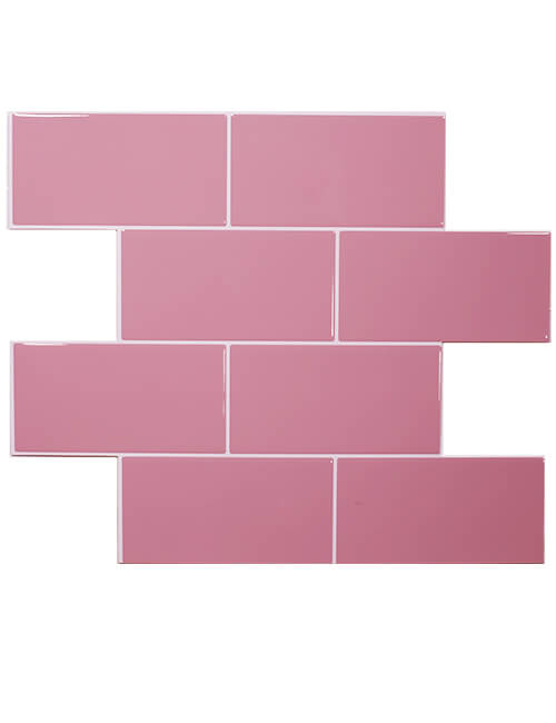 pink subway tile