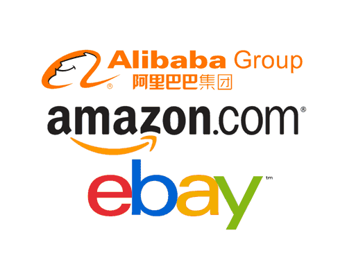 Online shopping stores - Ebay, Amazon and Alibaba