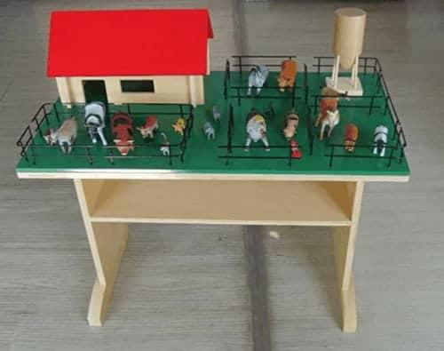 Montessori-Store Ferme complète en Bois