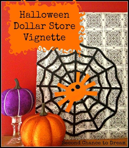 Second Chance to Dream: Halloween Dollar Store Vignette