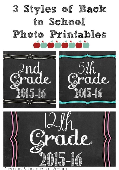 Second Chance to Dream: Back to School Photo Printables