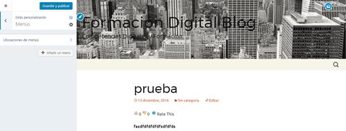 personalizar menu wordpress
