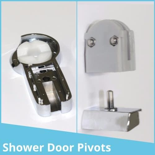 Shower door pivots
