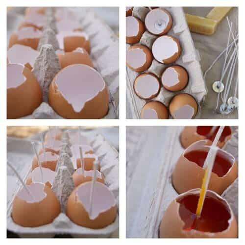 Easy Citronella Eggshell Candles | SimplePureBeauty.com