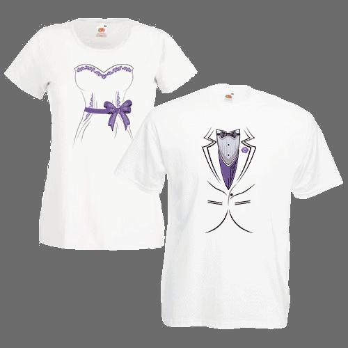 Печать на парных футболках Молодожены, Печать на футболках, чашках, кепках. Индивидуальный дизайн