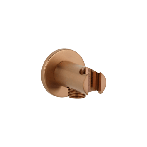 Mila Hand Shower Holder & BP - Brushed Copper