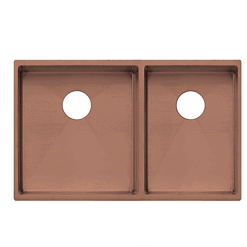 Vita Double Kitchen Sink 760mm – Brushed Copper