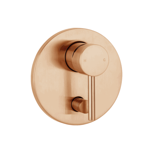 Elysian Shower Diverter - Brushed Copper
