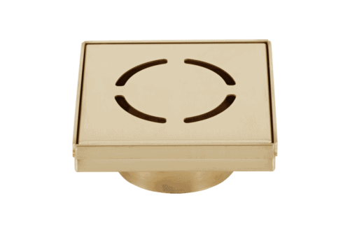Harper Square 125mm Floor Waste - Brass