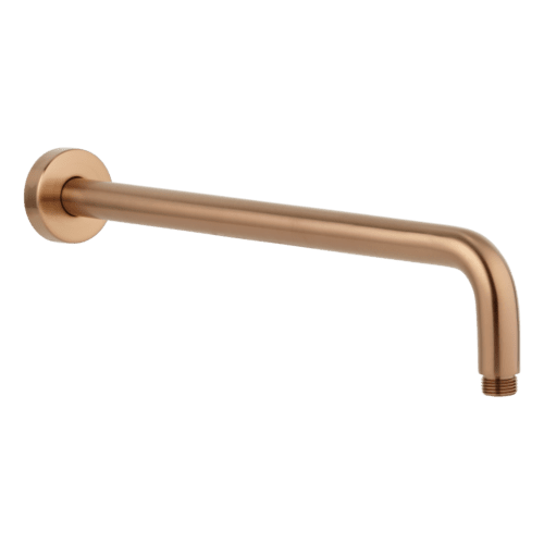 Phili Shower Arm 400mm - Brushed Copper