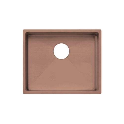 Seba Single Kitchen Sink 550mm - Brushed Copper