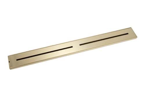 Trey Shower Channel Waste - Brass - 900mm