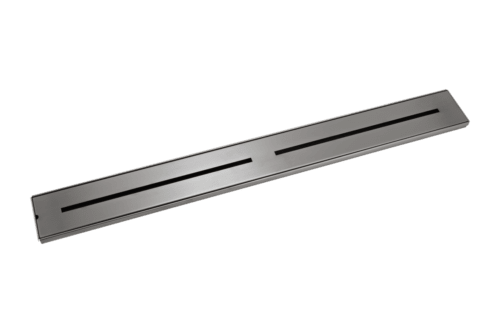 Trey Shower Channel Waste - Gun Metal - 900mm