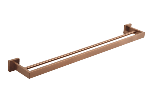Vaada Double Towel Rail 760mm - Brushed Copper