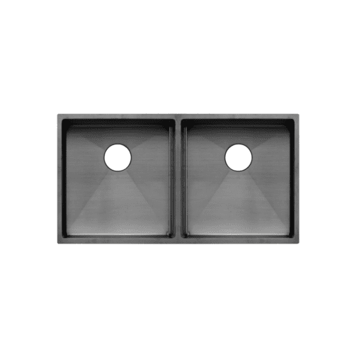Zalo Double Kitchen Sink 855mm - Gunmetal