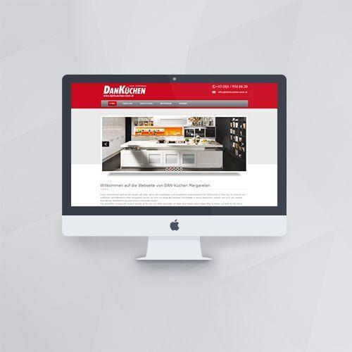 Webdesign - Webseite für Danküchen Margareten mit WordPress