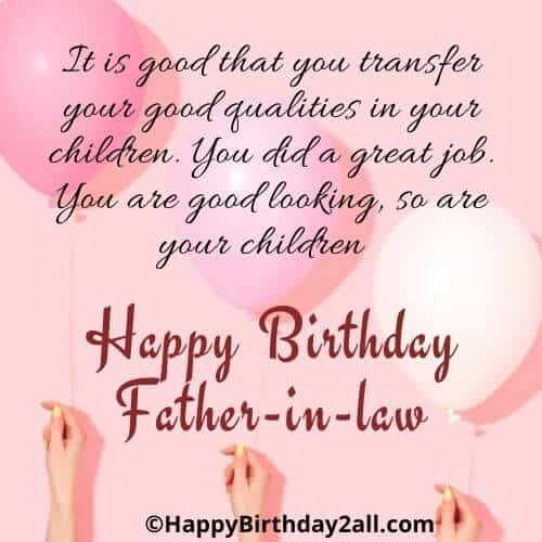 Happy Birthday Father-in-law
