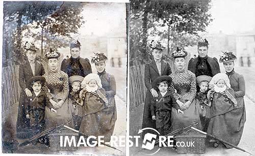 Tintype restoration