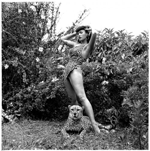 Bettie Paige with cheetah