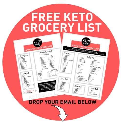 free keto grocery list pdf