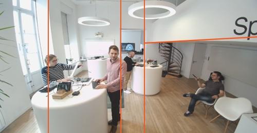 Déformation fish eye de la caméra concurrente à la caméra 4K ePTZ Speechi