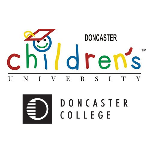 A company logo which says Doncaster Children's University TM, Doncaster College.
