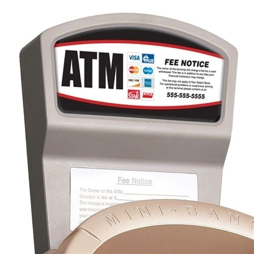 Custom ColorBrilliance NH1500 ATM Graphic Topper Insert