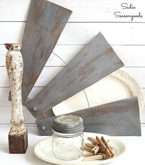 Revamped Ceiling Fan Blades, Farmhouse-Style