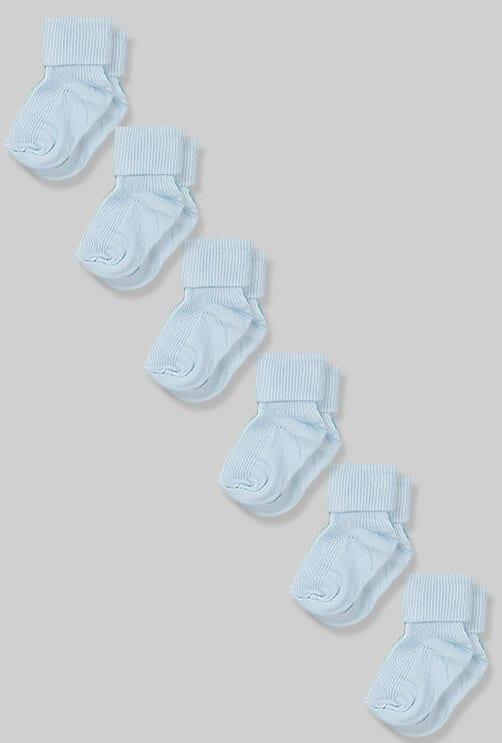 שישיית גרביים לתינוקות - תכלת