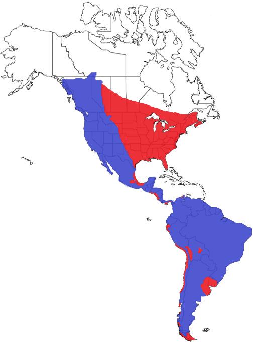 Cougar Species Range Map