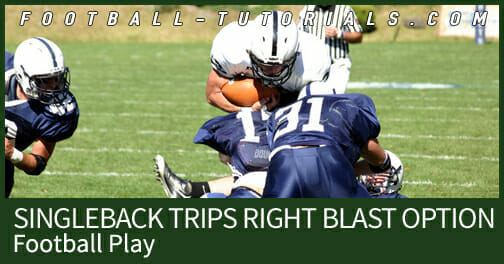 football play singleback trips