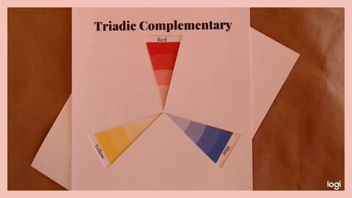 triadic complementary color scheme, primary colors, red, blue, yellow