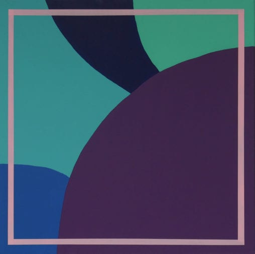 purple, blue and green abstract painting