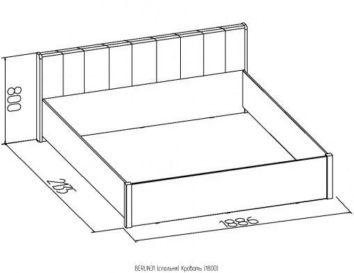 Кровать без основания Berlin 140/160/180 венге 4