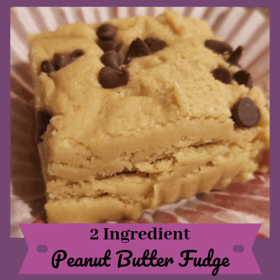 This simple 2 ingredient peanut butter fudge recipe is perfect for any occasion.   It takes only 2 ingredients and takes less than 10 minutes.