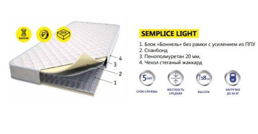 """Пружинный матрас """" SEMPLICE LIGHT """" любые размеры 2"""