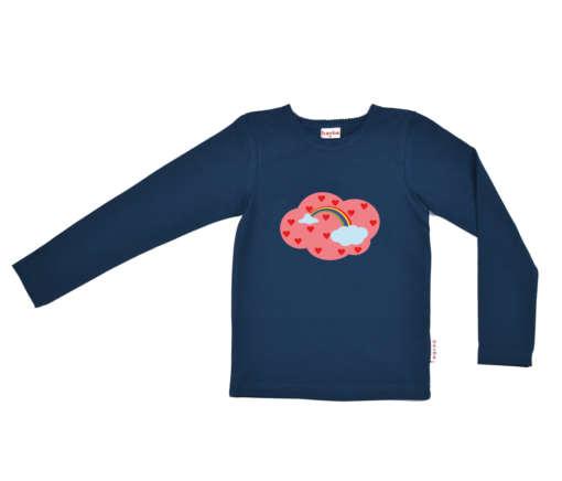 2Baba Babywear Langarms Shirt Regenbogen blau