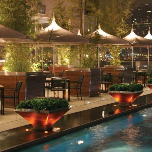 Tuuci Ocean Master Pagoda Umbrella, Commercial - Poolside