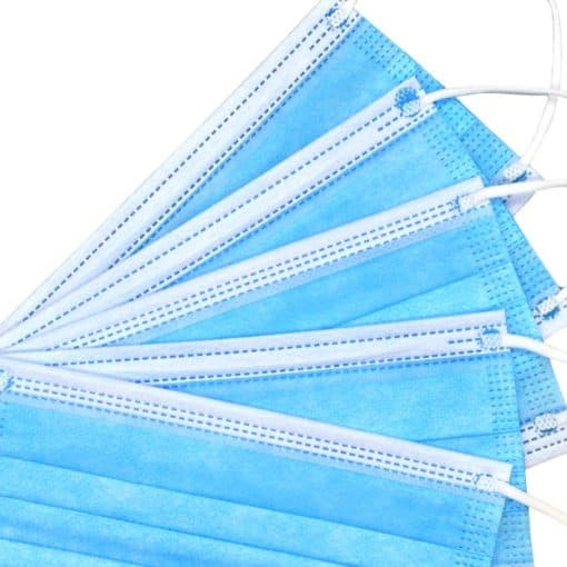 3ply blue masks