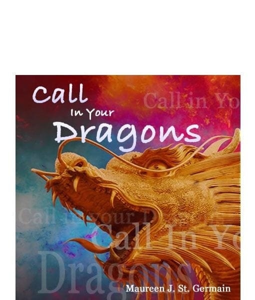 golden dragon on colorful background
