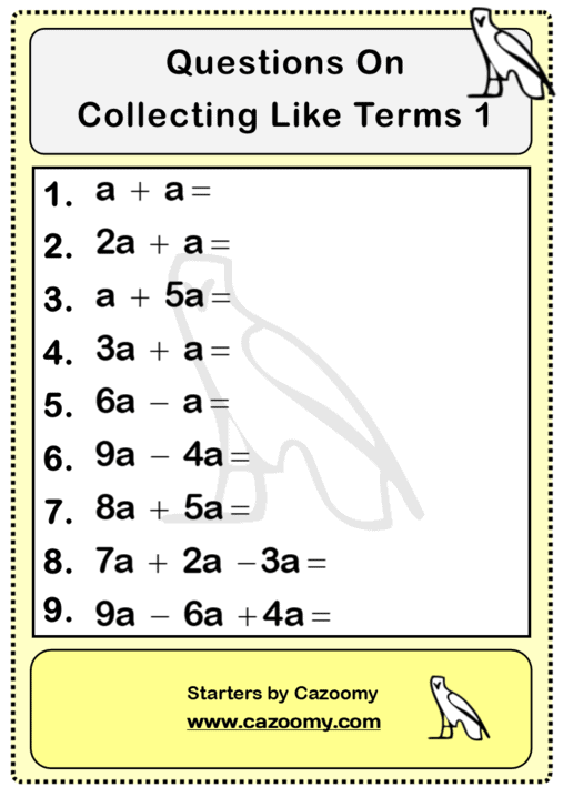 Maths Worksheets Questions 3