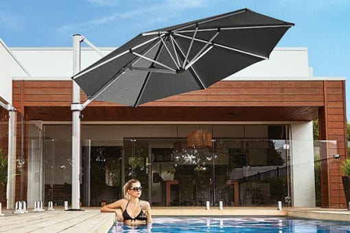 Frankford Eclipse Outdoor Umbrella, Residential - Black