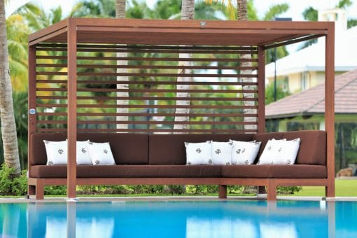 Tuuci Equinox Cabana, Wood Grain - Poolside