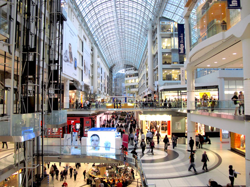 Eaton Centre Shopping Toronto