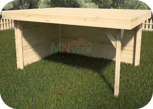 Porche de Madera Besalu2 Vista Frontal Mnveek