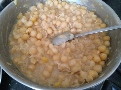 Cooked White peas